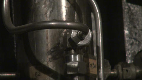 The intertwining of the hose, trunk lines and tubes Stock Video Footage