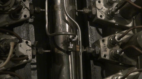 The intertwining of the hose, trunk lines and tubes Footage