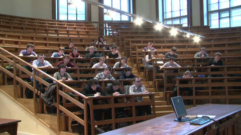 Students at a lecture in the classroom Footage
