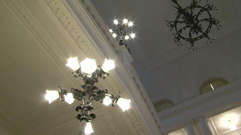 Antique chandelier Stock Video Footage