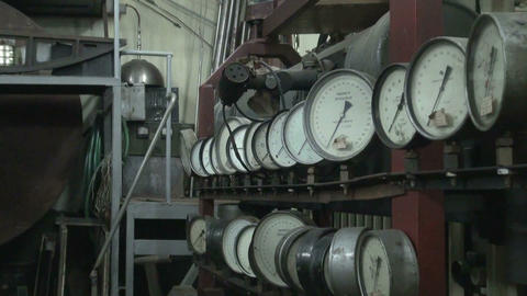 The pressure gauge in the physical laboratory Footage