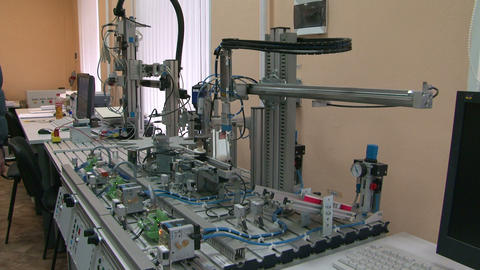 Model of the automated factory Footage