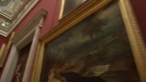 The corridors of the museum Stock Video Footage