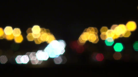 The lights in the defocusing Footage
