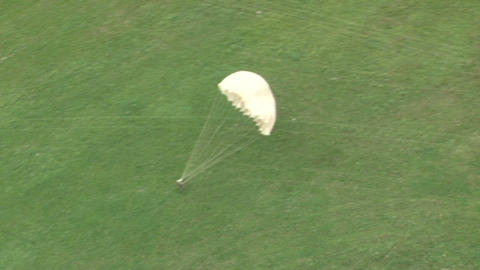 Parachutists in the air Footage