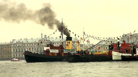 An old steamer Footage
