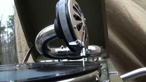 The Gramophone Stock Video Footage