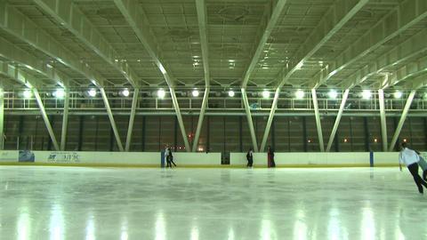 Indoor skating rink Stock Video Footage
