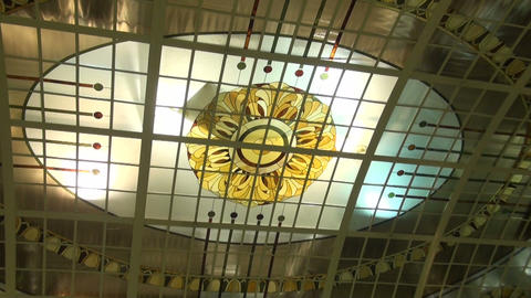 The ceiling, stained glass Stock Video Footage