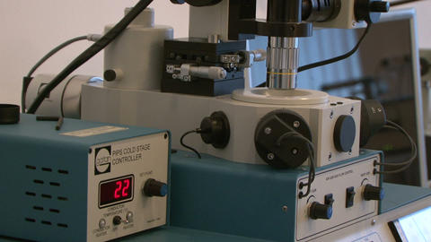 Electron Microscope stock footage