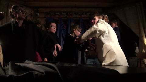 A Fight. Theatrical sketch Stock Video Footage