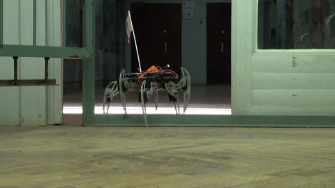 Spider robot Stock Video Footage
