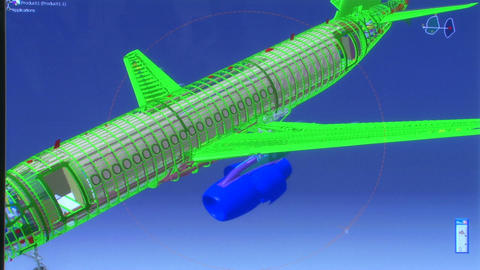 3D airplane model Animation