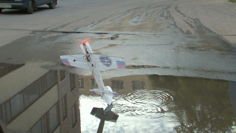 Radio-controlled model aircraft Stock Video Footage