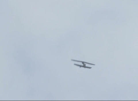 Plane in the sky Stock Video Footage