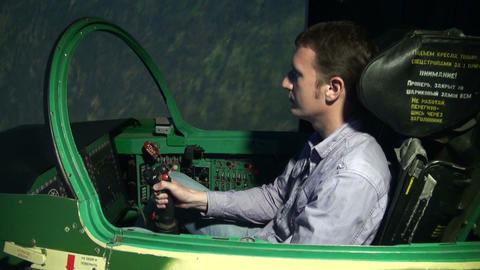 Aviation Simulator stock footage