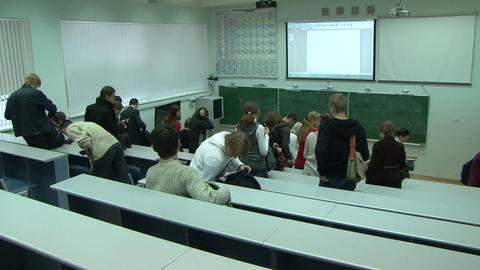 Students at a lecture in the classroom Live Action