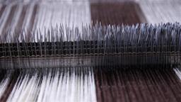 needles of industrial loom Footage