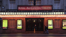 Royal Alexandra theatre entrance in Toronto, Canada Footage