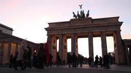 Brandenburger gate in Berlin timelapse Footage
