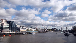 Timelapse London River Thames stock footage