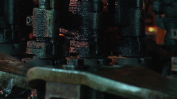 hot glass being transformed into glass bottles Stock Video Footage