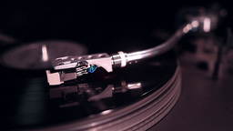 vinyl record playing in turntable Footage