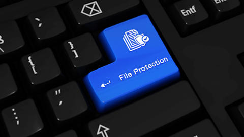 438. File Protection Rotation Motion On Computer Keyboard Button Live Action