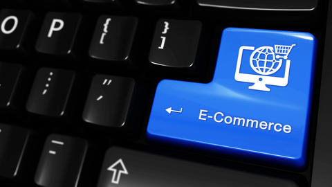 470. E-Commerce Moving Motion On Computer Keyboard Button Live Action