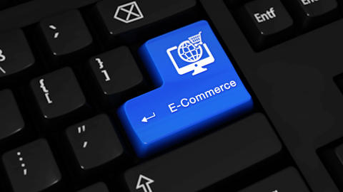 471. E-Commerce Rotation Motion On Computer Keyboard Button Footage