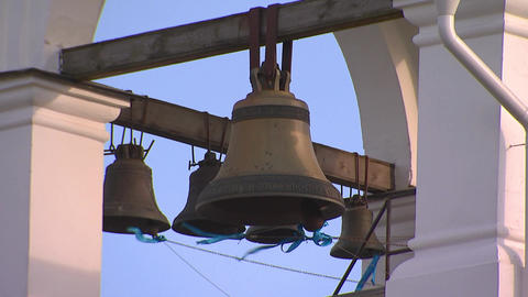 Church bells on the bell tower Footage