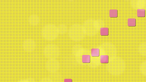Yellow Background and Pink Squares Animation