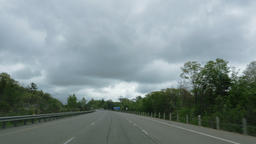 Vehicle Shot of Rural Highway Footage
