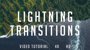 Lightning Transitions Pack After Effects Template