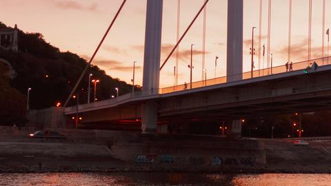 Chain Bridge Night Timelapse, Budapest, Hungary GIF