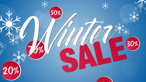 Sale winter promotion Animación