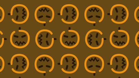 animated pattern background of a halloween pumpkin for culinary TV broadcasts Footage