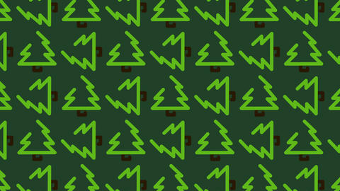 animated background pattern of a Christmas tree for culinary TV broadcasts Footage