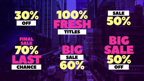 Sale Titles After Effects Template