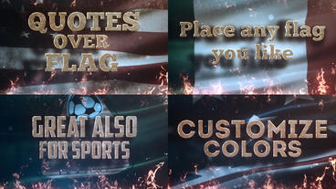 Quotes Over Flag Plantilla de After Effects