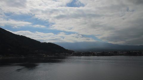 河口湖から望む富士山 ビデオ