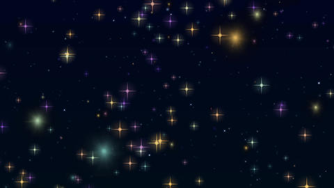 Colorful flashing Night sky background material CG動画