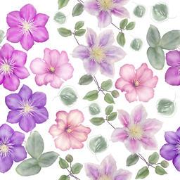 Seamless floral pattern フォト