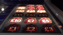Gambling machines blinking in the casino Footage