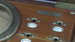Vintage French voltmeter, pan shot Footage