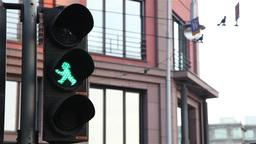Berlin traffic signal man Footage