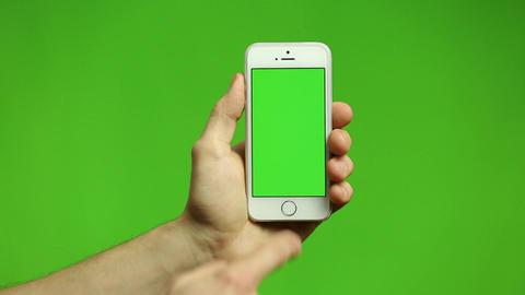 Smartphone Tap Swipe Pinch Hand Gestures on Screen Footage