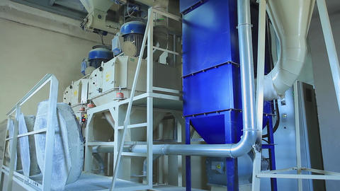 Factory for the Production of Animal Feed Footage