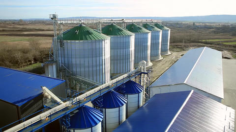 Silo Grain Tank Granary Elevators Footage