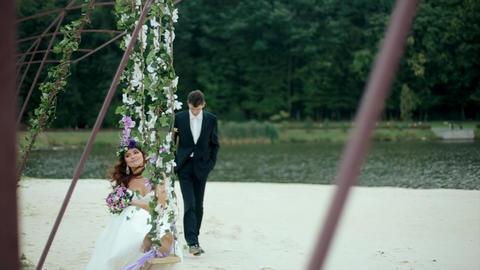 Groom Comes to Bride Receno Sitting Footage